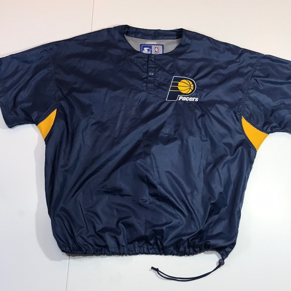cheap for discount b6d67 ce422 Indiana Pacers Warm Up Shirt Starter Vintage XL